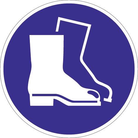 Folie Fußschutz benutzen D.200mm