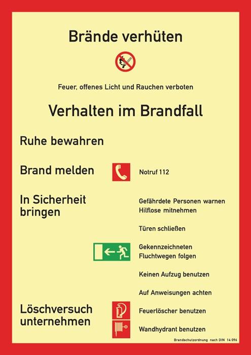 Brandschutzzeichen BGV A8 L210xB297mm