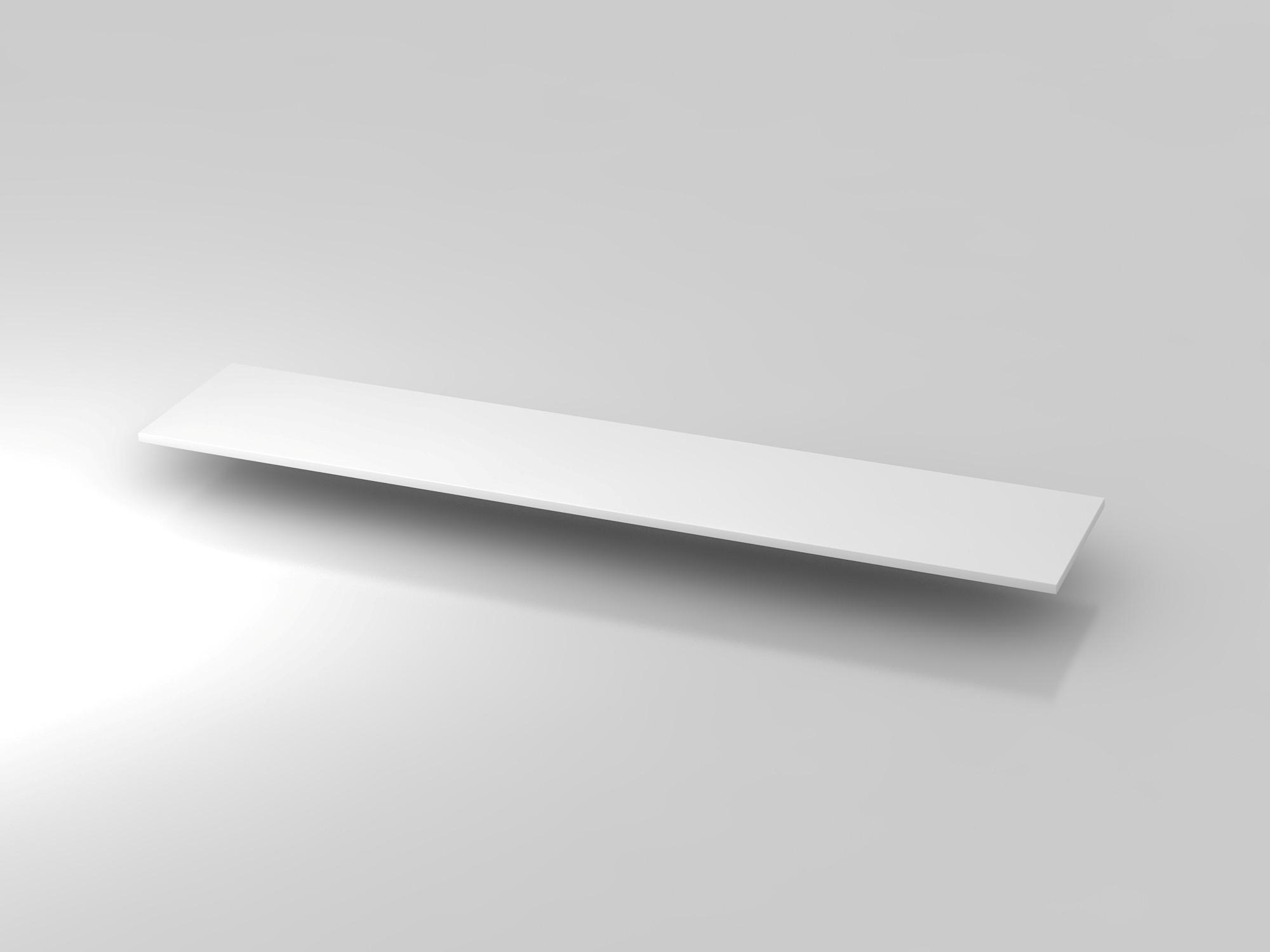 Abdeckplatte 200,5x43cm Weiß