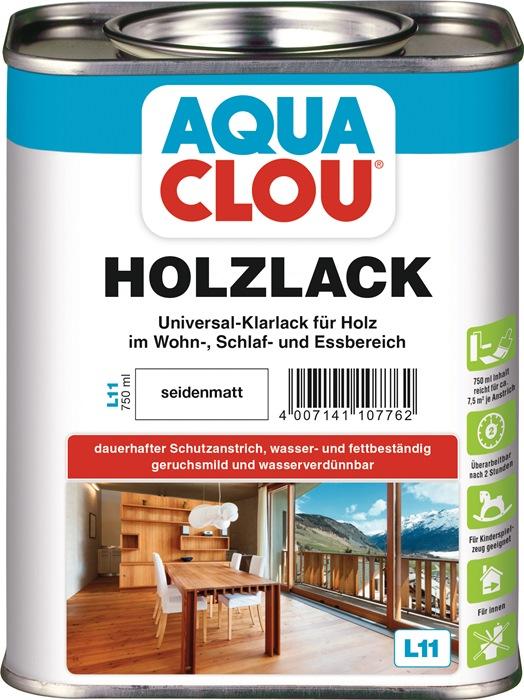 Holzlack L11 farblos seidenmatt 750 ml