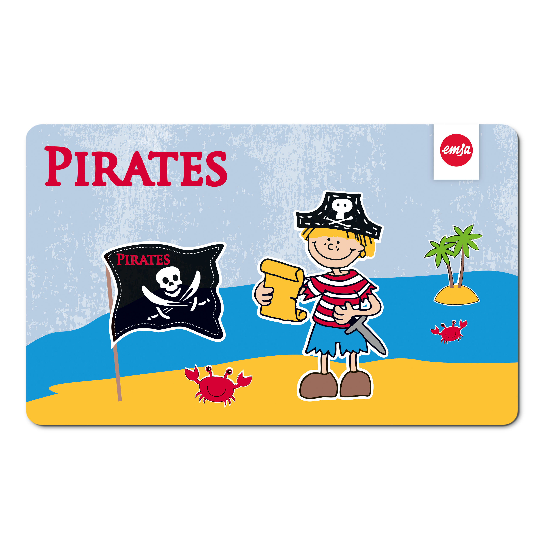 EMSA 516276 KIDS Brettchen Pirate - Schneidbrett - Frühstücksbrettchen für Kinder