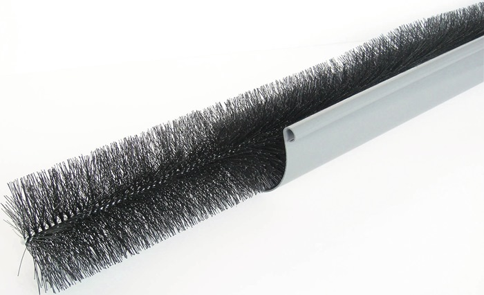 Rinnenraupe B.100-125mm L.1,2m schwarz
