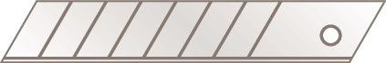 Abbrechklinge Nr.77 L109,6xB17,8xS0,5mm