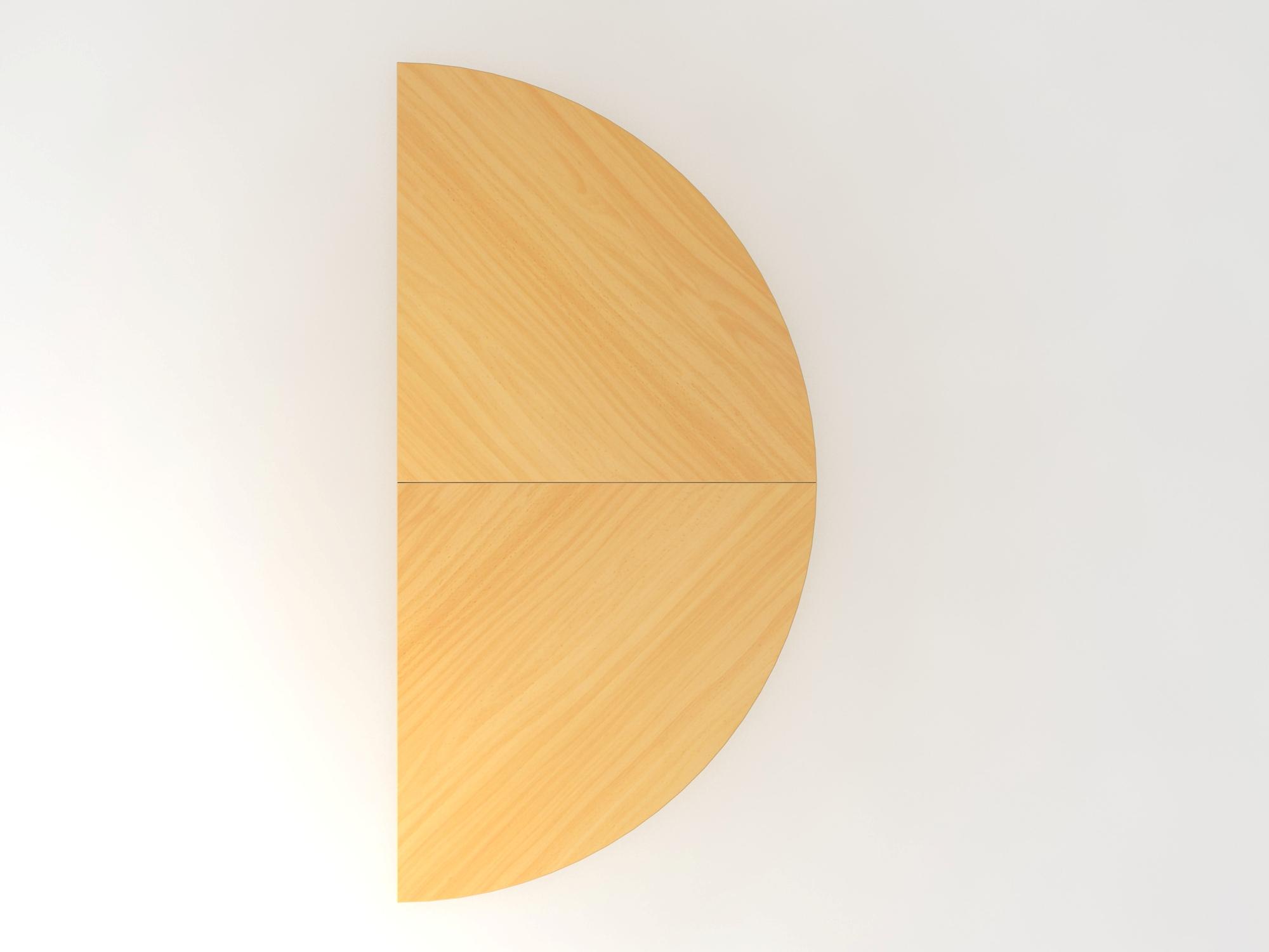Anbautisch 2xViertelkreis/STF Buche/Chrom