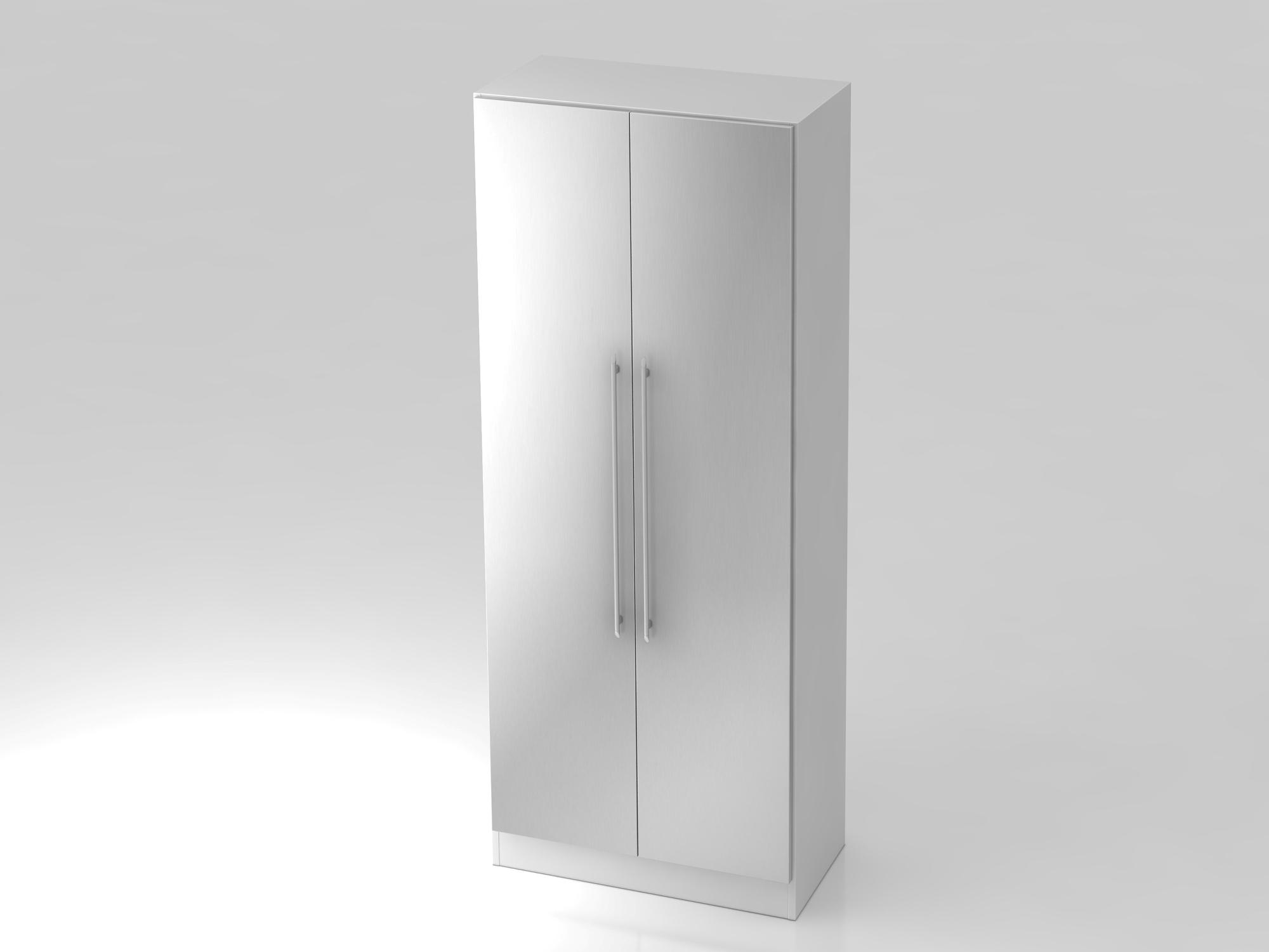 Garderobenschrank 5OH,SO-Bl. RE Weiß/Silber