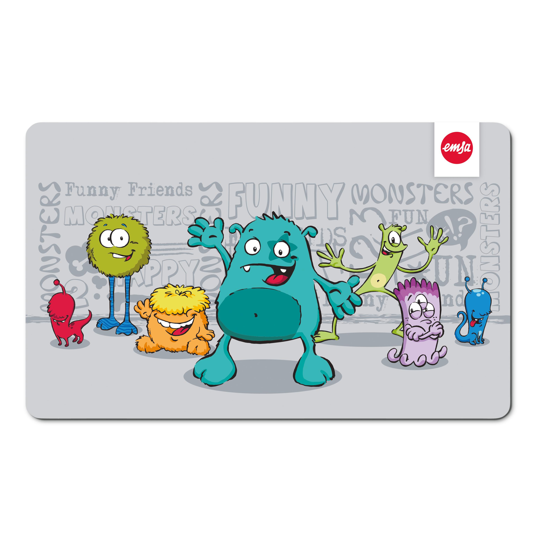 EMSA 516278 KIDS Brettchen Monster - Schneidbrett - Frühstücksbrettchen für Kinder