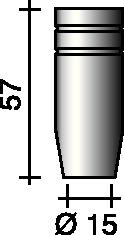 Gasdüse kon.15mm f.ERGOPLUS 25 TRAFIMET