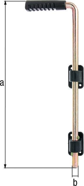Bodenschieber L400xS16mm STA galv.gelb