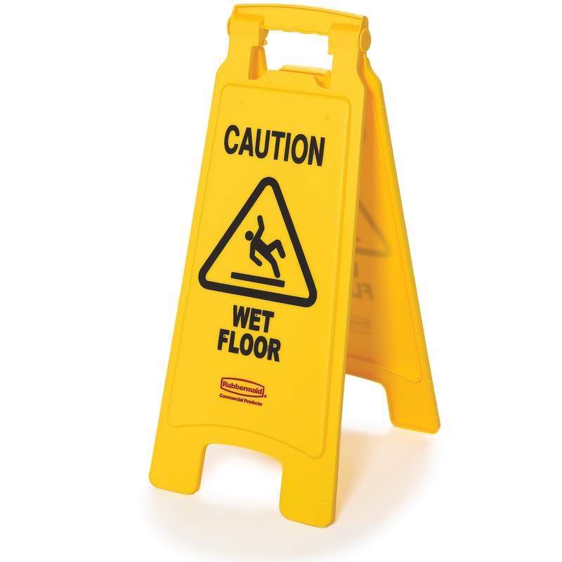 """2-seitig, Warnschild, Symbol """"Caution Wet Floor"""" (Vorsicht, Rutschgefahr!)"""