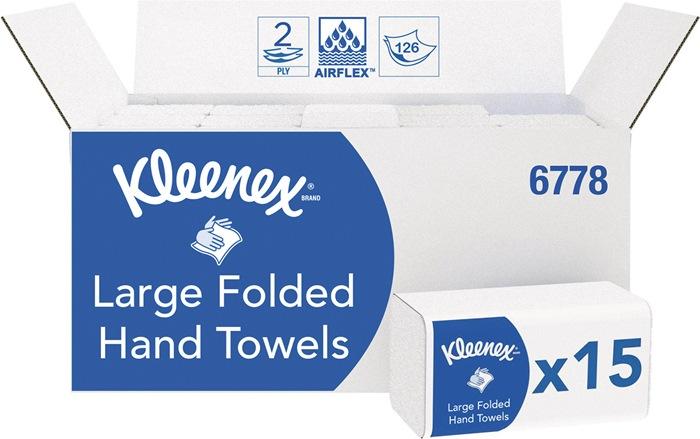 Falttuch KLEENEX® 6778 2-lagig weiß