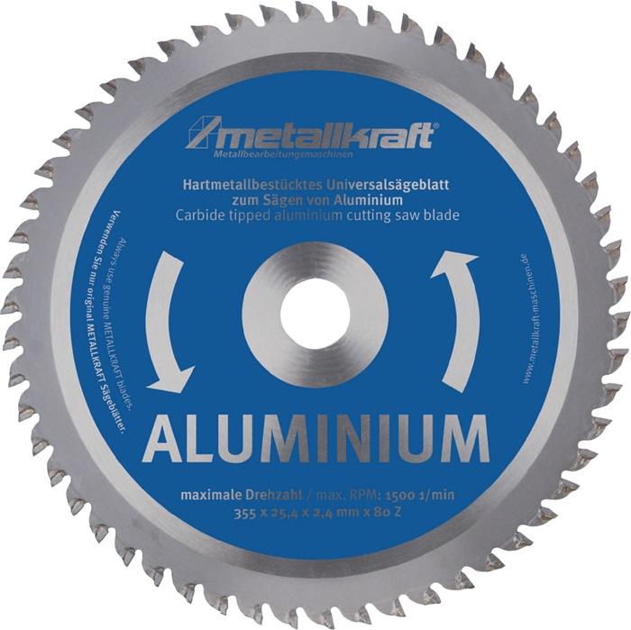 Metallkreissägeblatt Alu.D.355mm B.2,4mm