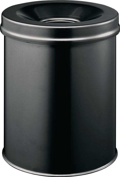 Abfallbehälter H357xØ260mm 15l schwarz
