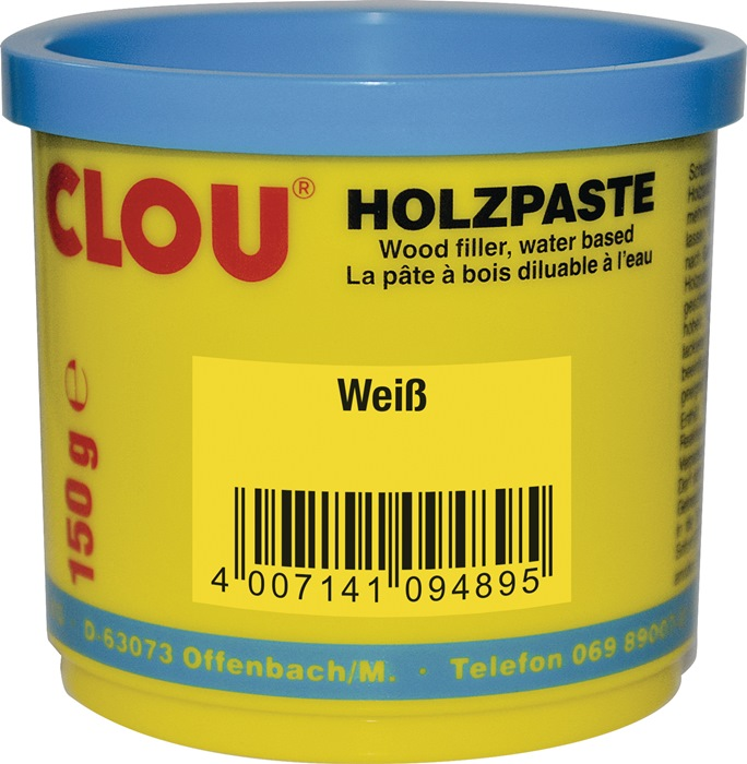 Holzpaste Farbe 16 weiß 150g Dose CLOU