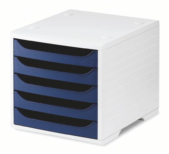 Ablagebox 5 grau/blau