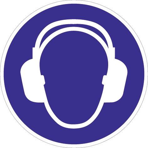 Folie Gehörschutz benutzen D.200mm