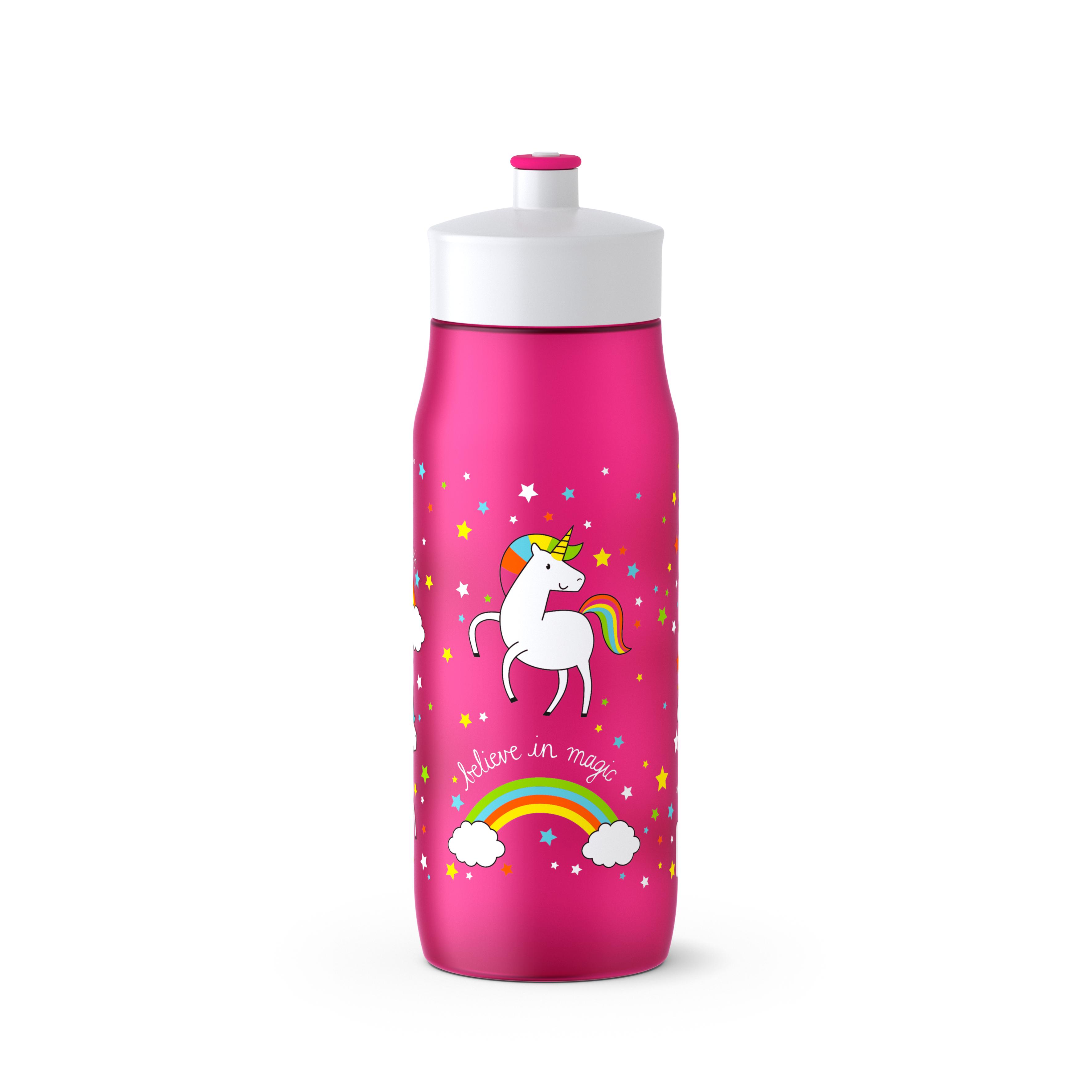 EMSA 518089 SQUEEZE Trinkflasche 0,6 L UNICORN