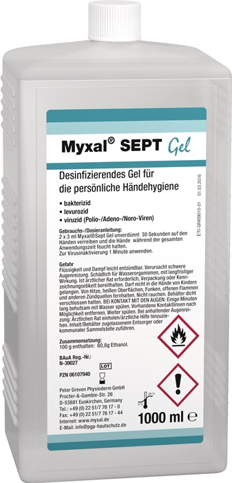 Handdesinfektionsgel MYXAL® SEPT GEL 1l