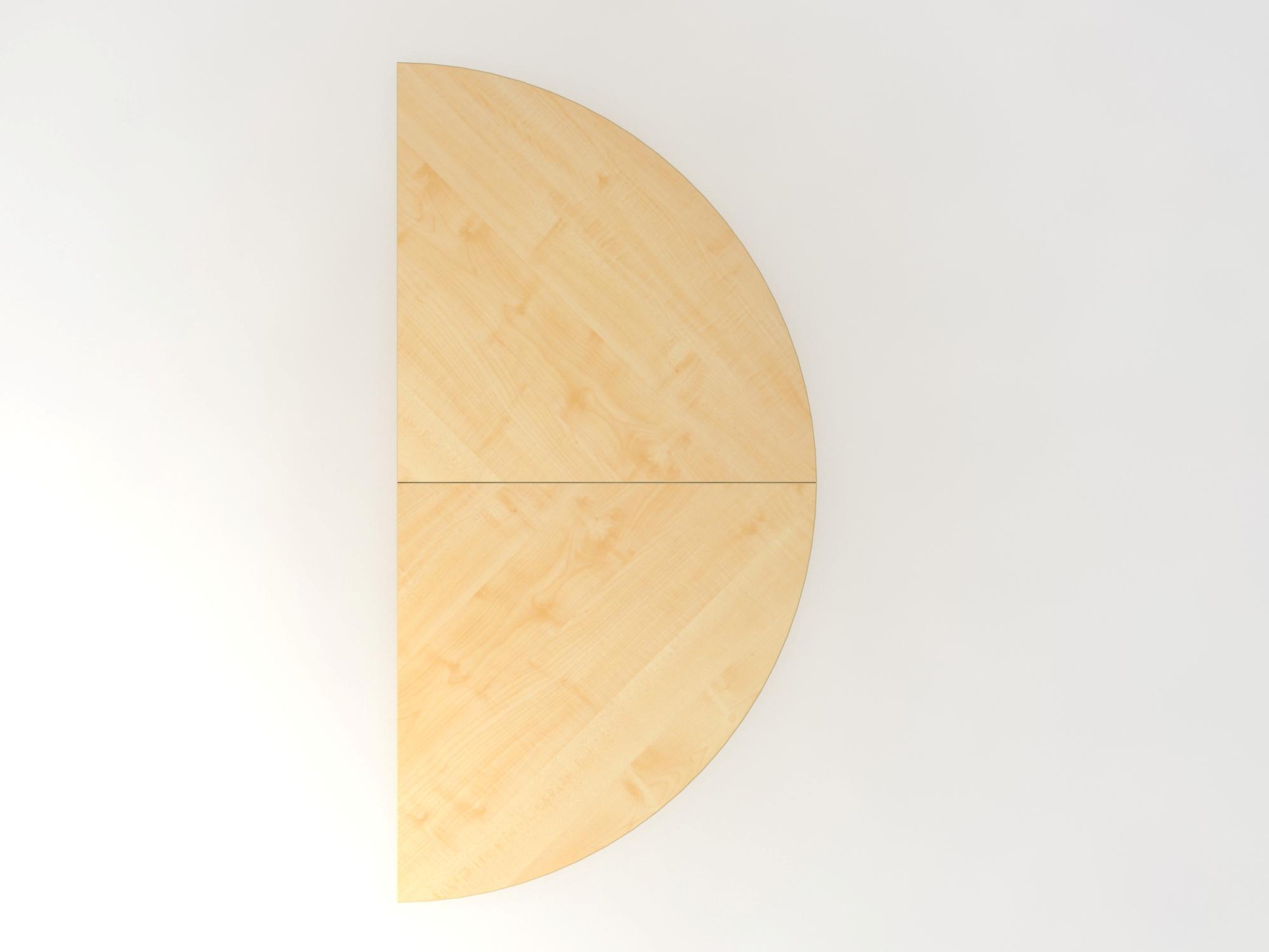 Anbautisch 2xViertelkreis/STF Ahorn/Silber