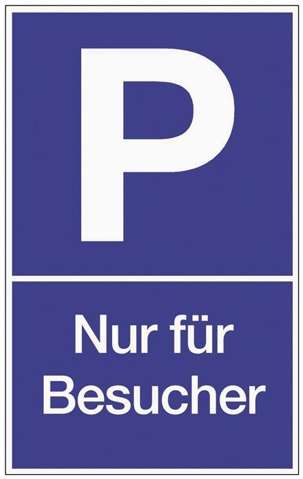 Parkplatzbeschilderung Parken f.Besucher