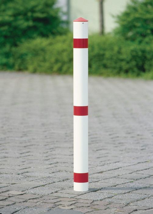 Sperrpfosten STA rot-weiß D.76mm