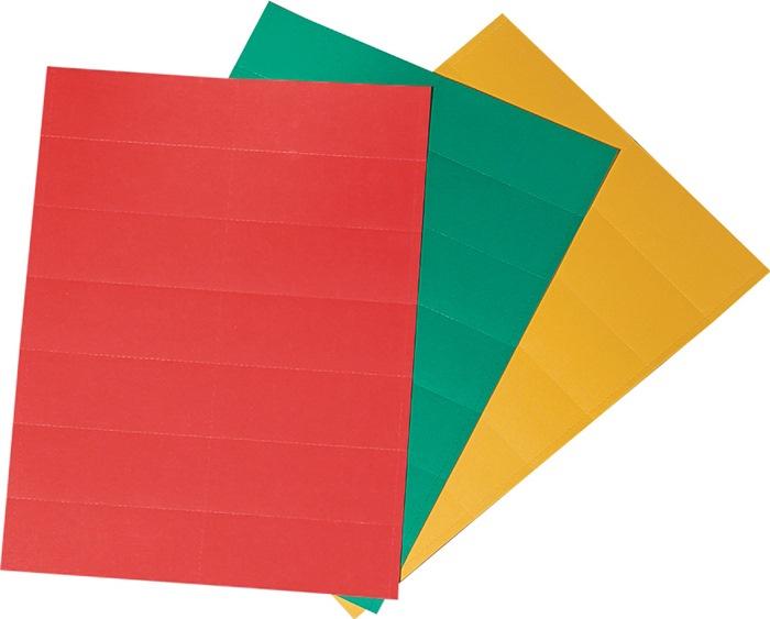 Beschriftungsschild 3 Farben je 14 St.