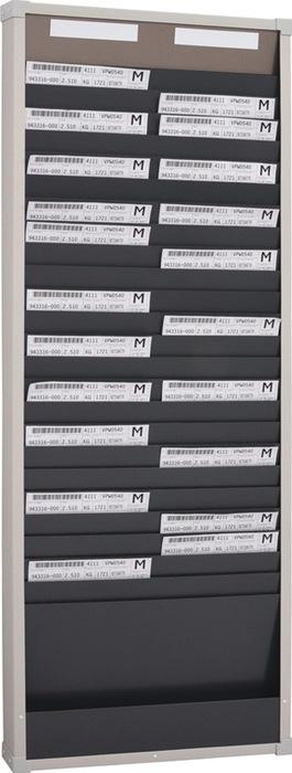 Planungstafel H1350xB490xT75mm 2 Reihen